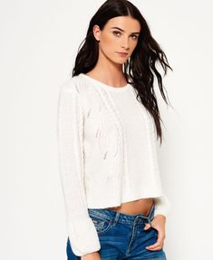 Superdry Bell Sleeve Cable Knit Jumper
