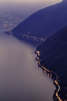 the road to Como, Italy