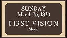 Movie First Vision March 26th - YouTube Army Post, May We All, National Weather, Joseph Smith, Jan 20, Church History, Weather Report, Latter Days