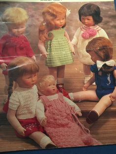 Knitting Patterns Dolls Clothes 12 Pages Various Designs Vintage PDF by CraftybyLulu on Etsy
