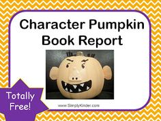 Character Pumpkin Book Report