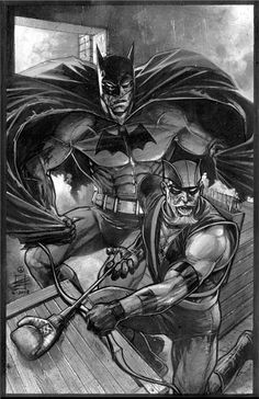 Brave and the Bold, Batman & Green Arrow by Eddy Newell Comic Book Characters, Comic Character, Comic Books Art, Book Art, Batman The Dark Knight, Batgirl And Robin, Arte Dc Comics, Batman Comics, Nananana Batman
