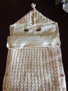 Manta Crochet, Crochet Baby, Knit Crochet, Bunting Bag, Baby Bunting, Crochet Bunting, Crochet Hooks, Easy Crochet Patterns, Crochet Designs