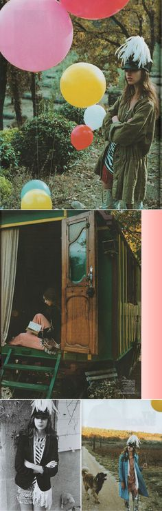 from jalouse magazine by skye parrett. I want an idyllic gypsy caravan.