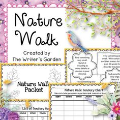 Take your students on a nature walk, and have them explore their natural surroundings by focusing on their senses. These Nature Walk Worksheets are great to use in preparation for writing descriptive essays and poems. They can be used separately or organized into nature packets that your students can work through independently when outside.
