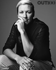 Out100: Abby Wambach   she looks great even in black and white