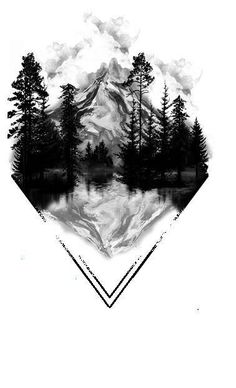 Most Recent Photos Mountain Tattoo Reflections, Geometric Tattoo, Geometric Tattoo . Wolf Tattoos, Girl Tattoos, Octopus Tattoos, Animal Tattoos, Tatoos, Natur Tattoo Arm, Natur Tattoos, Tattoo Design Drawings, Tattoo Designs