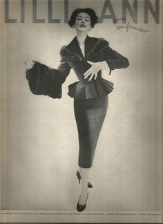 50's Lilli Ann Fashion Advertisement  - Dorian Leigh  1955 #LilliAnnDorianLeigh