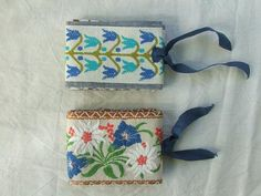 Itty-bitty pin or needle cases!  Now I can use those odd bits of trim I still have hanging around.