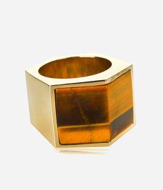 Luxe Semi-Precious Bold Ring   Henri Bendel