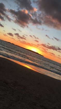 ITAP of a sunset in Punta Del Este Uruguay