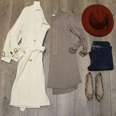 ||Timeless|| Shop Our Instagram. Link In Bio Trenched In Style $64. online in-store Back To Basics In Mocha $28. online in-store Angel Layered Chain $22. online in-store Rust Wool Panama Hat $38. Dark Wash Skinny Jean $72. Snake Skin Ballet Flat $38. online in-store #timeless #fashiondiaries #ootd #flatlay #elysianlove http://ift.tt/1SjaVAk ||Timeless|| Shop Our Instagram. Link In Bio Trenched In Style $64. online in-store Back To Basics In Mocha $28. online in-store Angel Layered Chain $22…