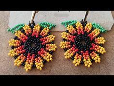 Beaded Jewelry Patterns, Fabric Jewelry, Beaded Earrings, Beaded Bracelets, Knitted Heart, Crochet Flower Tutorial, Earring Tutorial, Seed Bead Jewelry, Beading Tutorials