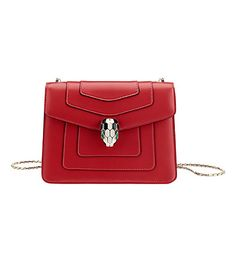 28741de81a BVLGARI - Serpenti Forever leather flap bag | Selfridges.com Bvlgari  Serpenti, Calf Leather