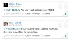 This is what happens when Kirk tweets the ISS