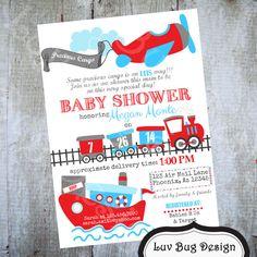 PRECIOUS CARGO Baby Shower Printable Invite by luvbugdesign, $14.00