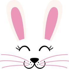 Silhouette Design Store - View Design #184795: easter bunny face