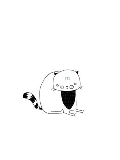 HITRECORD - cat Doodles, Draw, Cats, Bujo, Fictional Characters, Gatos, To Draw, Sketches, Painting