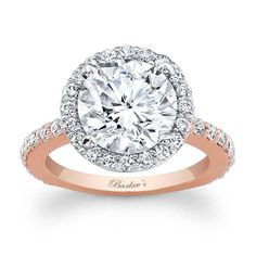 Barkev's Rose & White Gold Engagement Ring 7839LT