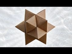 Origami Burr Puzzle (Froy) Folded by Sandy Clair Origami Toys, Origami Cube, Origami Videos, Origami And Kirigami, Origami Ball, Origami Folding, Paper Crafts Origami, Paper Folding, Origami Butterfly