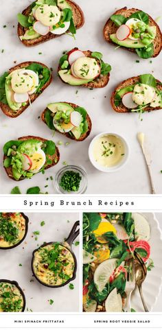 Spring Brunch Recipes - healthy, fresh entertaining options for Easter Sunday or your next spring brunch!