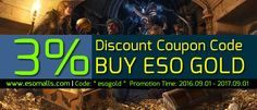 3% discount coupon code buy eso gold Power Leveling, Elder Scrolls Online, Buy Cheap, Coupon Codes, Coupons, Cosplay, Gold, Stuff To Buy, Coupon