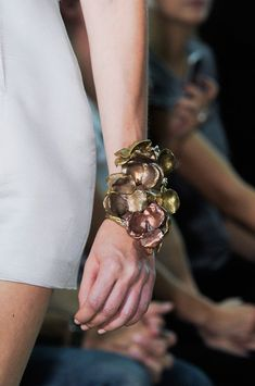 Absolutely gorgeous spring colours in this detailed cuff