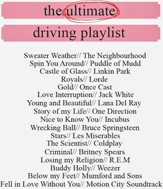 Sequins and Pearls: The Ultimate Driving Playlist