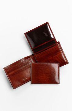 Men's Bosca ID Passcase Wallet Cognac One Size