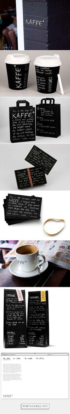 "Kaffe"" Coffee Shop Branding & Packaging By Jared Erickson Coffee Shop Branding, Coffee Shop Logo, Cafe Branding, Coffee Shop Design, Restaurant Branding, Coffee Packaging, Brand Packaging, Packaging Design, Restaurant Marketing"