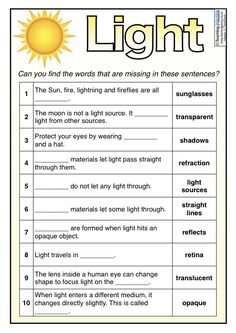 light and shadow worksheet 4th science and history science worksheets. Black Bedroom Furniture Sets. Home Design Ideas