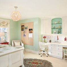 Turquoise Girls Bedroom Design, Pictures, Remodel, Decor and Ideas - page 13