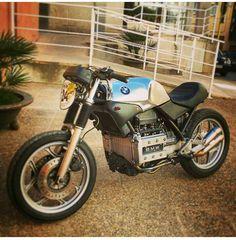 K75 Norton Cafe Racer, Bmw Cafe Racer, Cafe Racer Build, Cafe Racer Motorcycle, K100 Bmw, R80, Custom Street Bikes, Custom Bikes, Bmw Motorcycles