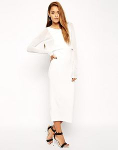 Make a statement in a white dress this winter.