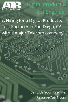 Needs ASIC testing, microprocessors exp C/C++, Perl, Java exp. Working with Integrated Circuit solutions for cellular networks. http://atrjobs.com/careernetwork/req_details.php?refid=ATR119762