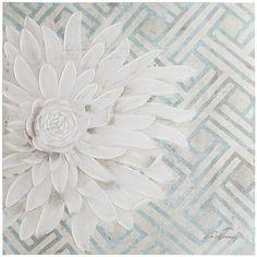 Floral Lattice Art - Teal