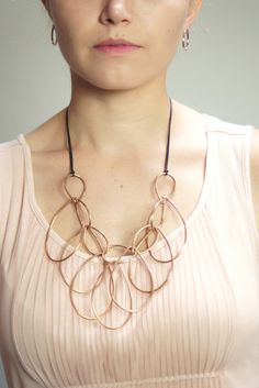 pair this statement necklace and top with your favorite #workwear or dress it down with some distressed denim