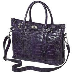 Bueno Crocodile Tote - Dark Purple ($35) ❤ liked on Polyvore