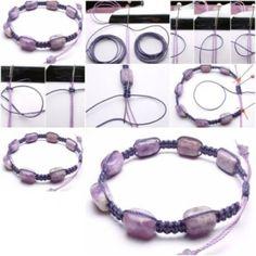 How to make Precious Stone Bracelet step by step DIY tutorial instructions, How to, how to make, step by step, picture tutorials, diy instru by Mary Smith fSesz