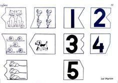 Werkblad cijfers 1 t/m 5.