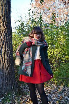 Cozy in plaid. #fall #scarf #bundled #fall #layers