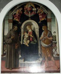 San casciano, chiesa di s. francesco, interno 04 Madonna con il Bambino tra la Maddalena e San Francesco, Biagio di Antonio Tucci.