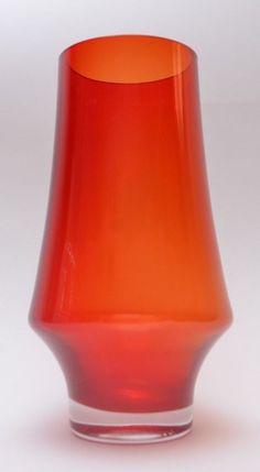 Stylish Riihimaki Lasi Oy 1374 Mid Century Vintage Scandinavian Art Glass Vase #MidCenturyModern