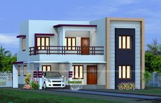 This 2082 sq.ft Flat Roof Home Design has total area of 2082 Square Feet Square Meter) Square Yards) 4 bedroom attached).