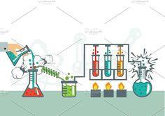 Chemistry Illustration by Magurok on @creativemarket