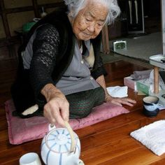BLIND HOSPITALITY-- I spent two days with this 103 year old woman. She cooked her own food, kept house and washed her own dishes (and while she was at it, she'd pull out her dentures and scrub them too). She ate miso soup and diakon for breakfast, drank 5 cups of tea daily and napped. She spent 15 mins daily to remember her ancestors. From her, I got a glimpse of the extreme of human longevity. We had no mutual language but she hosted me for two days and smiled the whole time