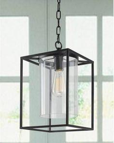 1-Light Antique Bronze Glass Shade Hanging Chandelier Pendant Lighting Fixture