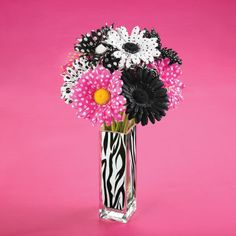 Zebra Vase Trend Stem Arrangement
