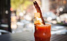 Rockit Burger Bar in Chicago  3 of 16   To create this cut-above Bloody Mary, the team infuses vodka with bacon and/or horseradish, which they stir into house-made tomato juice mix. The brunch-y beverage is finished off with a Parmesan-cayenne crust on the rim to add a nice kick to every sip.