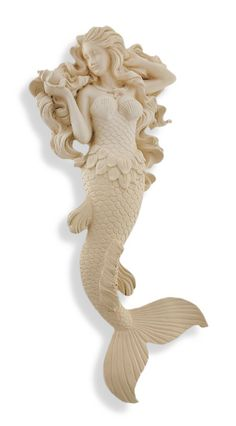 Museum White Modest Mermaid Wall Hanging Sculpture >>> Read more reviews of the product by visiting the link on the image. (This is an affiliate link) #WallSculptures